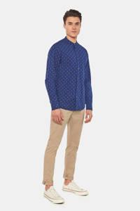 WE Fashion Blue Ridge slim fit overhemd met all over print royal navy, Royal Navy