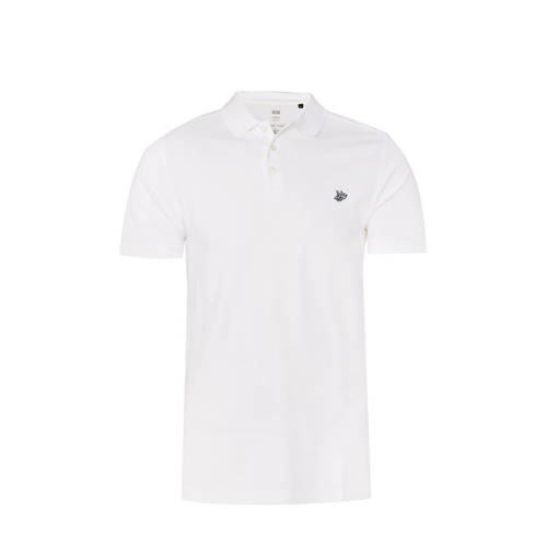 WE Fashion regular fit polo white uni