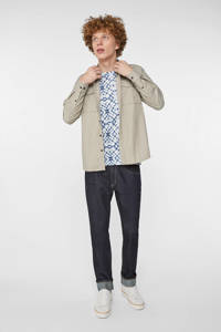 WE Fashion Blue Ridge regular fit overhemd sesame, Sesame