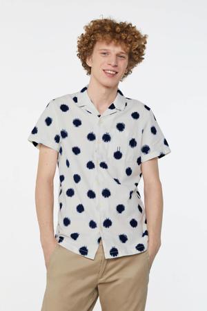 regular fit overhemd met stippen new ivory