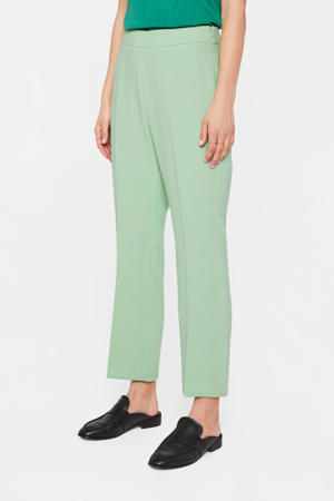 cropped straight fit pantalon lichtgroen