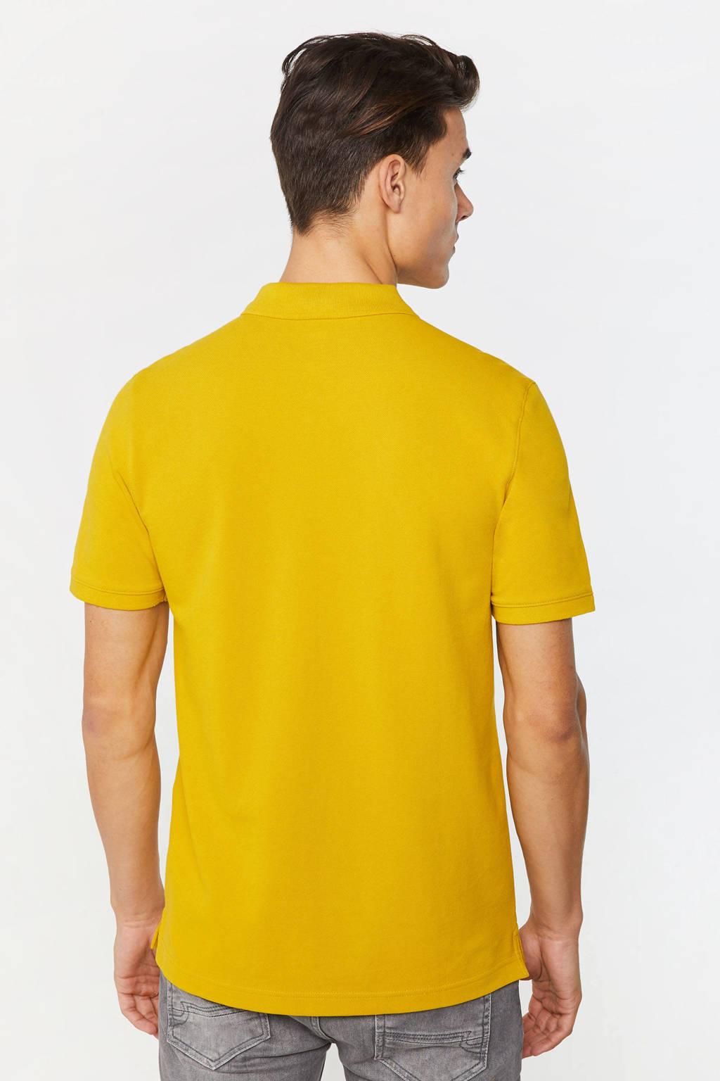 WE Fashion slim fit polo lemon curry, Lemon Curry