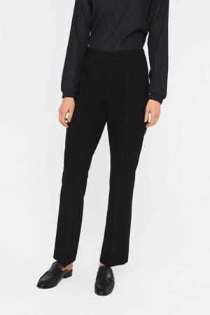 cropped straight fit pantalon zwart