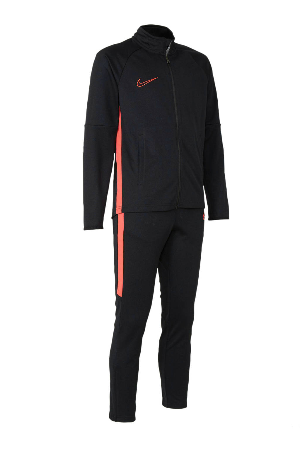 Nike Junior  trainingspak zwart, Zwart/rood