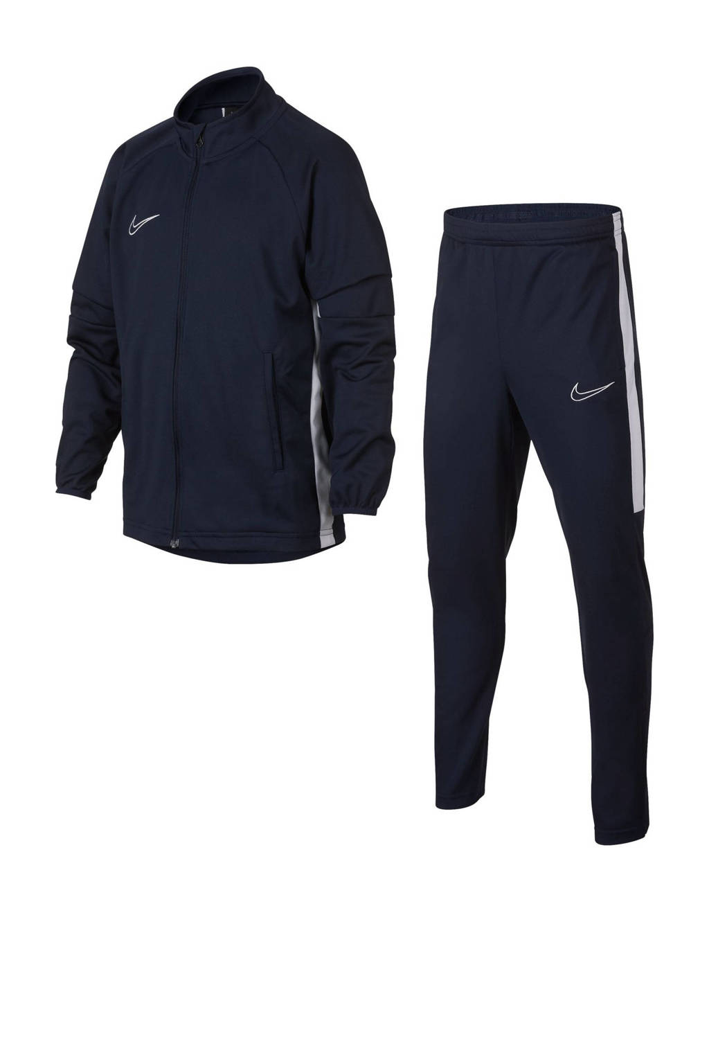 Nike Junior  trainingspak donkerblauw, Donkerblauw/wit
