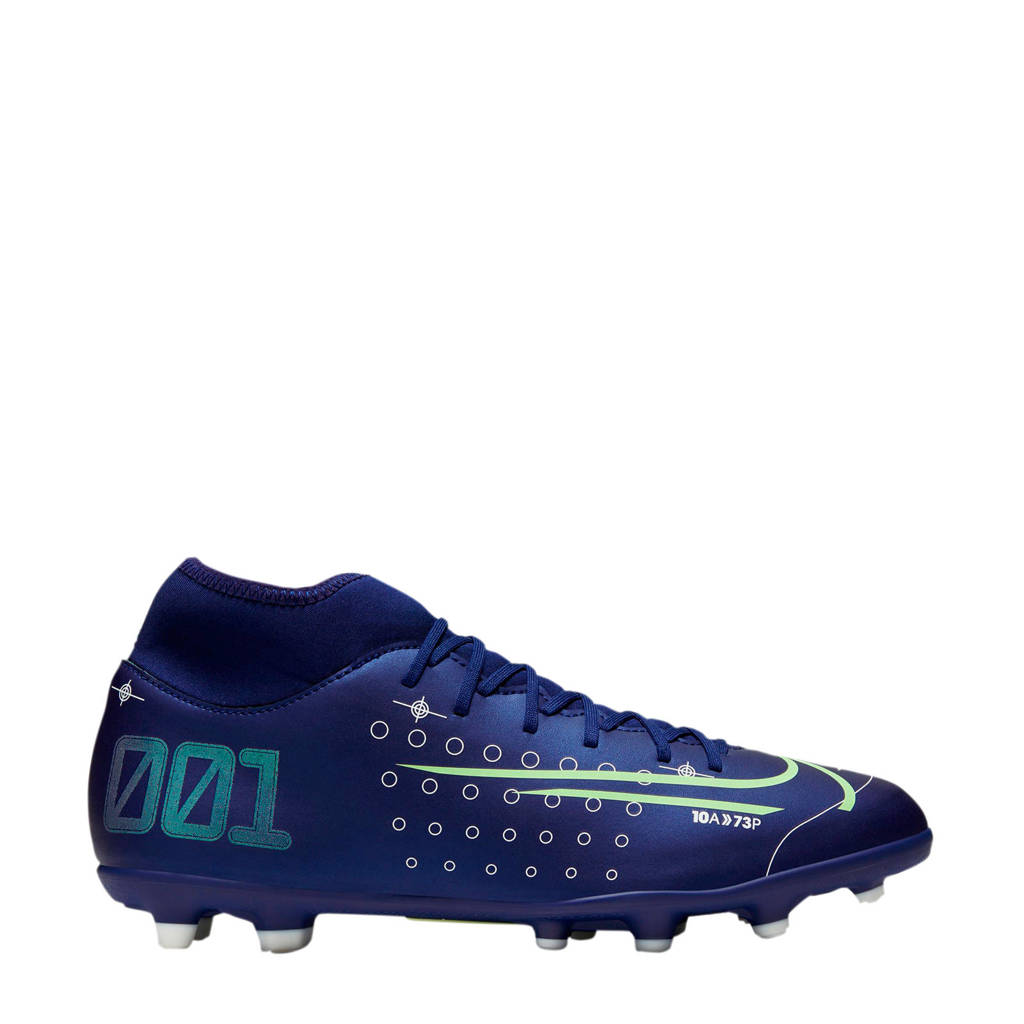 Nike Mercurial Superfly 7 Club MDS FG/MG Sr. voetbalschoenen donkerblauw, Donkerblauw/wit