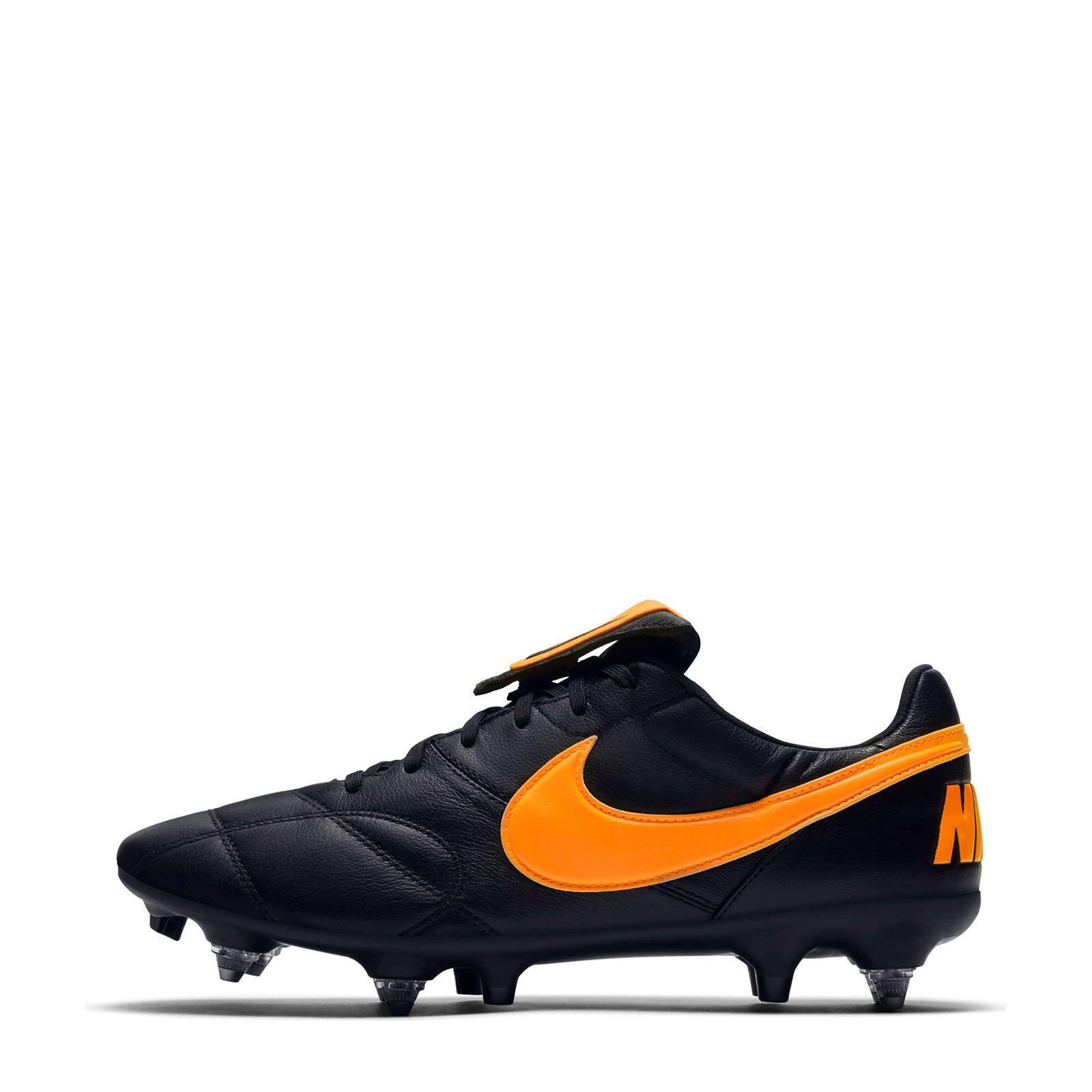 The Nike Premier SG PRO AC Sr. voetbalschoenen zwartoranje