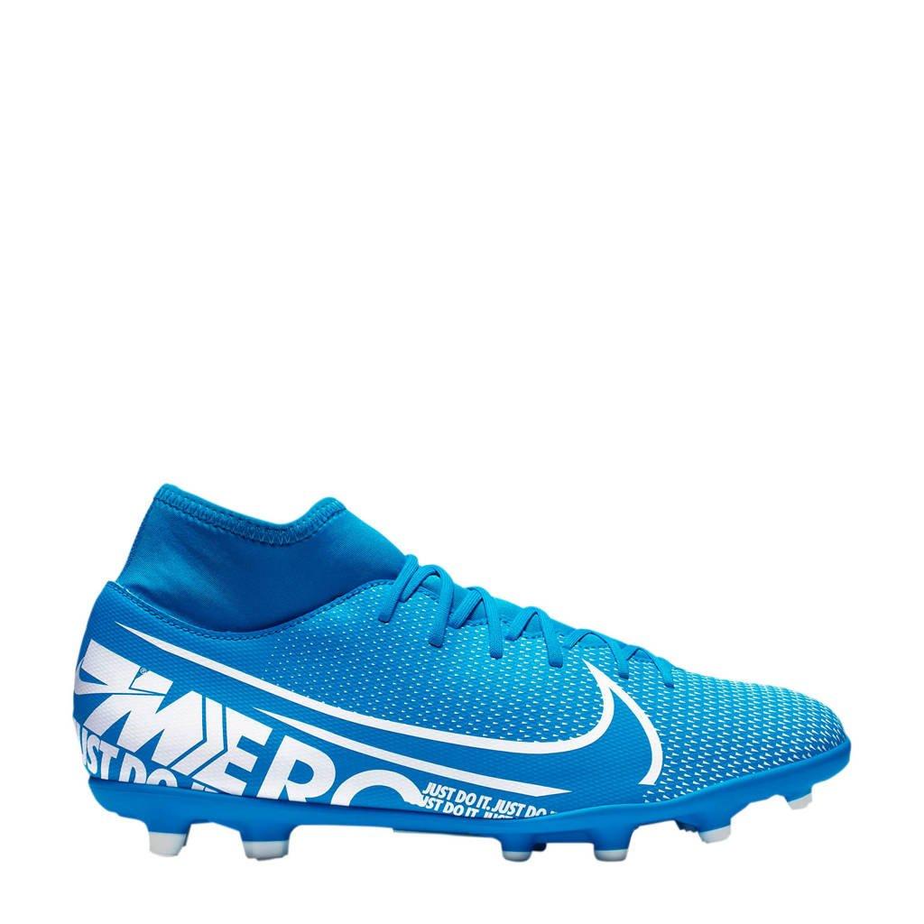 Nike Mercurial Superfly Club FG/MG Sr. voetbalschoenen blauw/wit, Blauw/wit