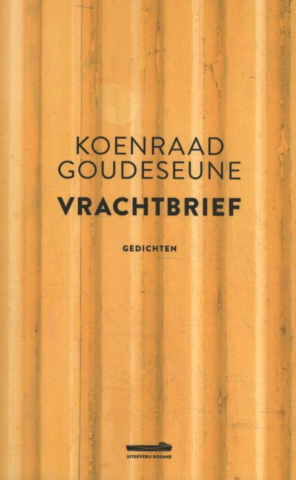 Vrachtbrief - Koenraad Goudeseune