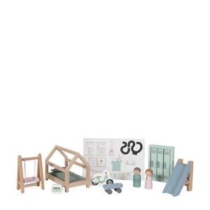 houten poppenhuis uitbreidingsset kinderkamer 12-delig