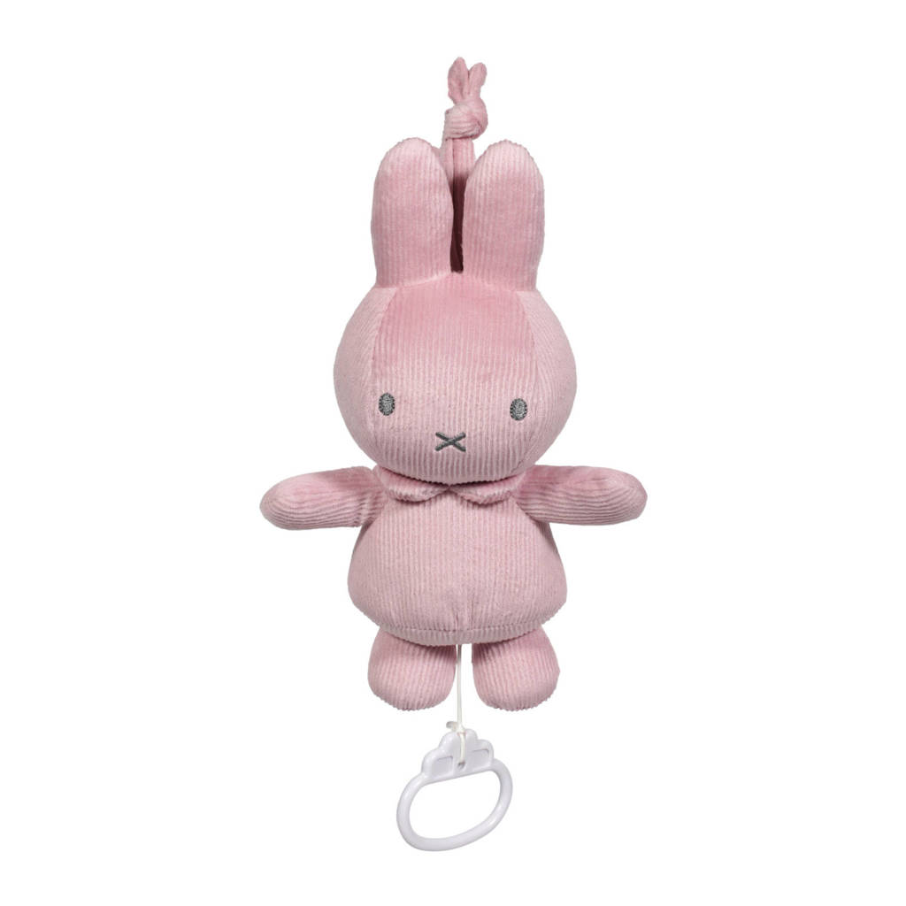nijntje muziekdoosje pink baby rib, Roze