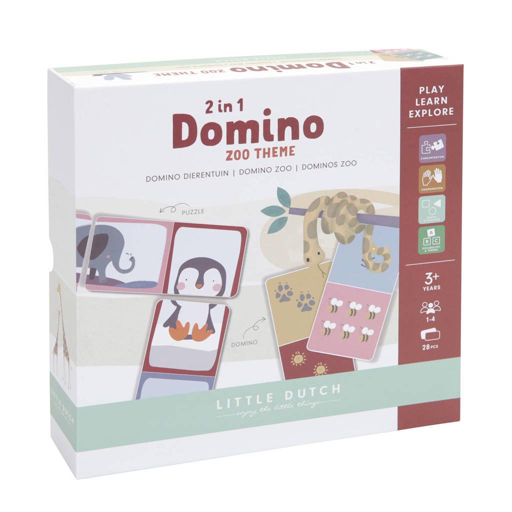 Little Dutch Domino puzzel - dierentuin kinderspel