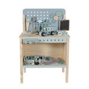 houten werkbank met gereedschapsgordel