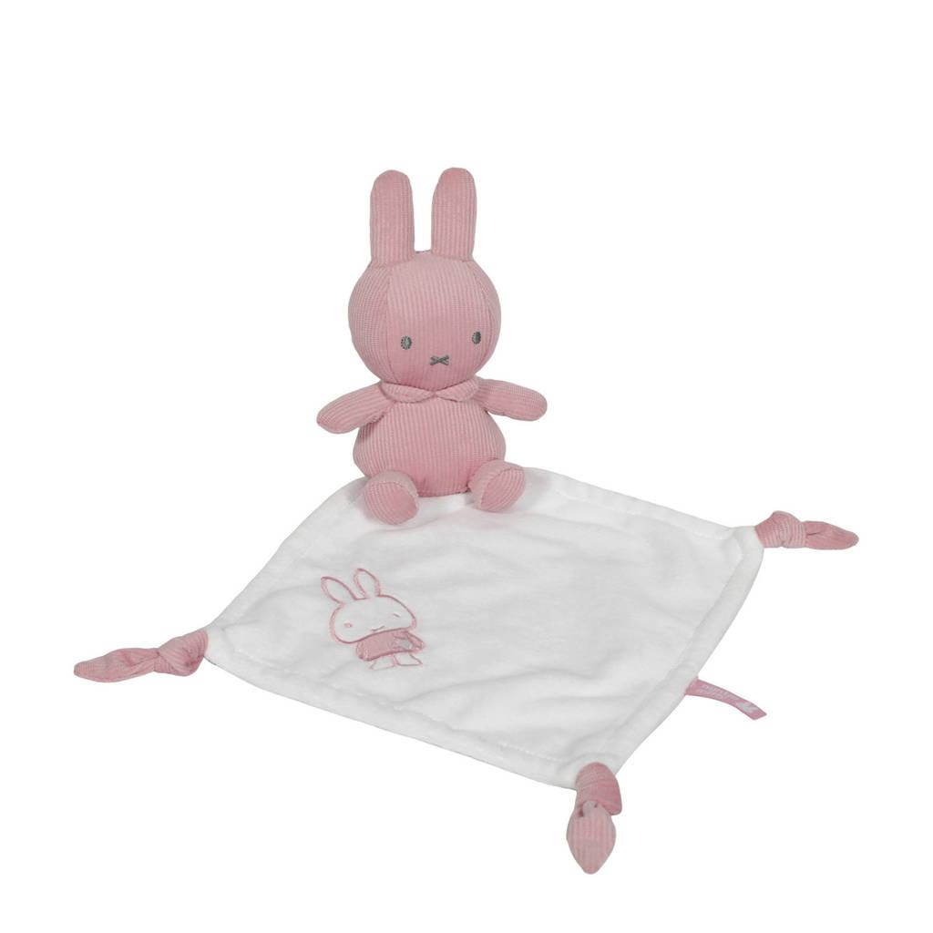 nijntje knuffeldoekje pink baby rib knuffeldoekje, Wit