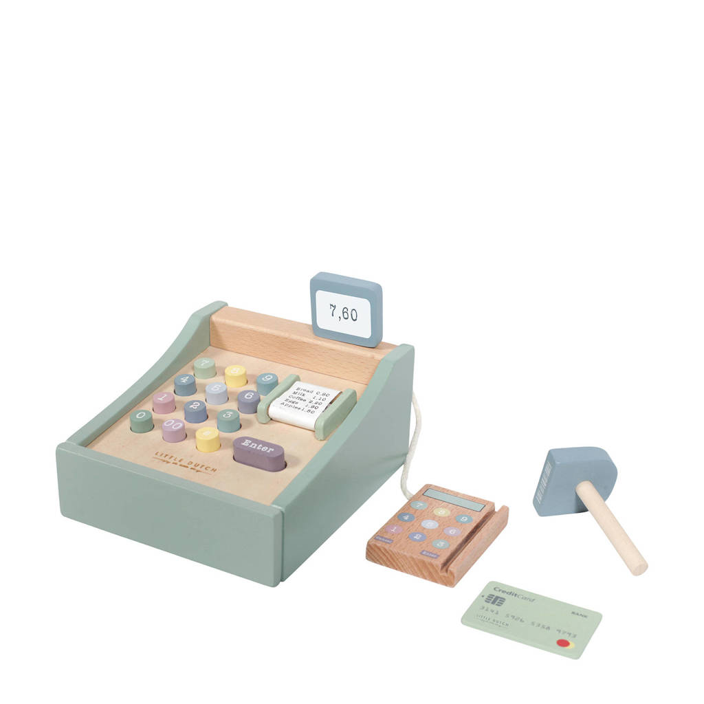 Little Dutch houten kassa met scanner