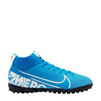 Nike Mercurial Superfly 7 Academy TF Jr. voetbalschoenen blauw/wit, Blauw/wit