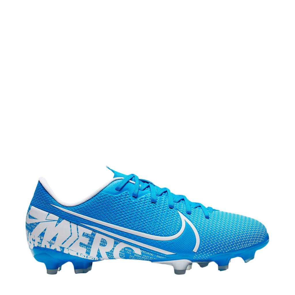 Nike Vapor 13 Academy FG/MG Jr. voetbalschoenen blauw/wit, Blauw/wit