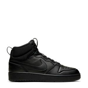 Court Borough Mid 2 leren sneakers zwart