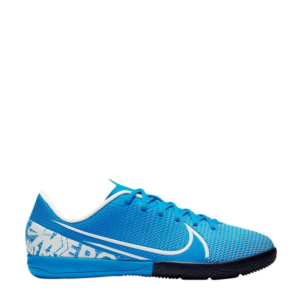 Nike Mercurial Vapor 13 Academy IC Jr. zaalvoetbalschoenen, Blauw/wit