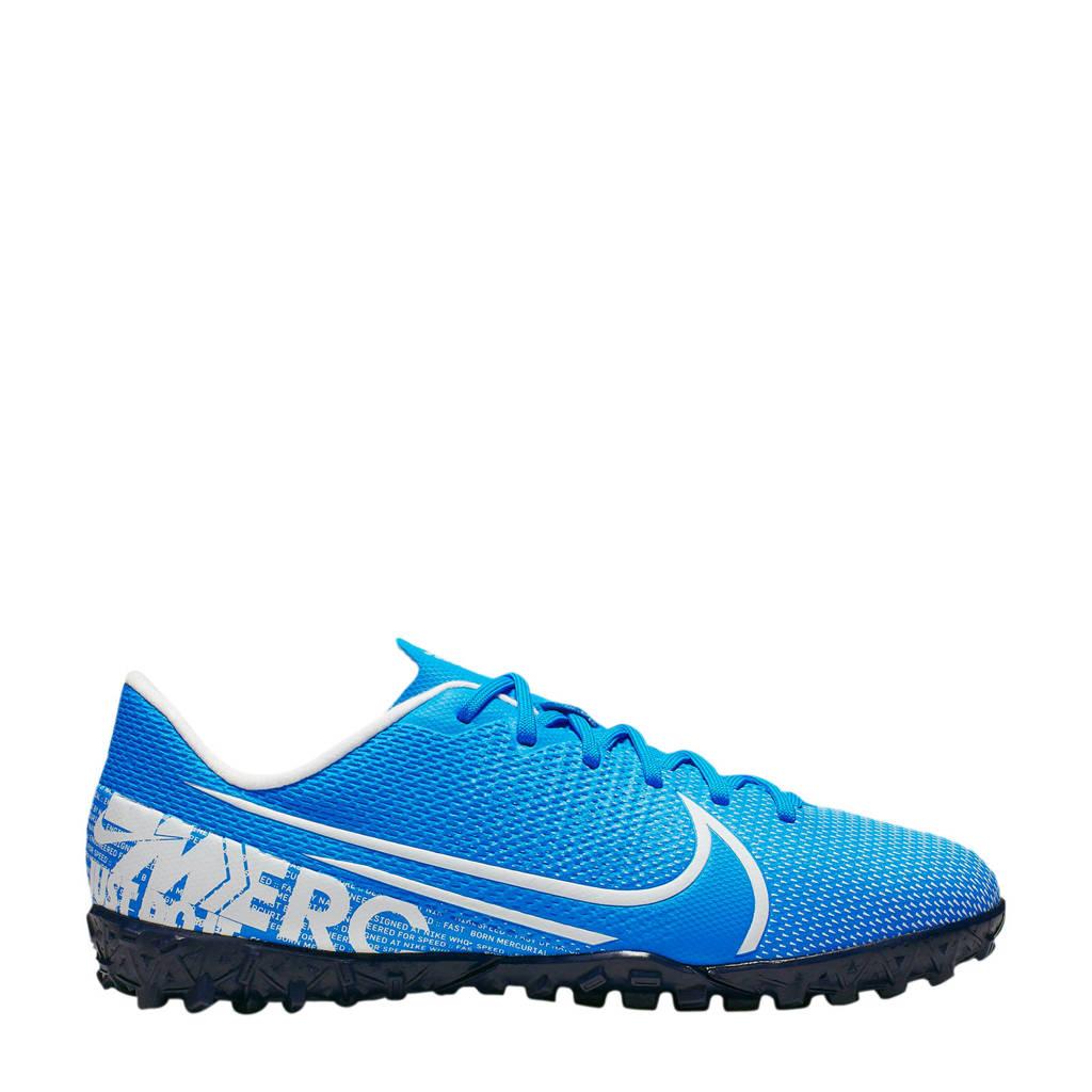 Nike Mercurial Vapor 12 Academy TF Jr. voetbalschoenen blauw/wit, Blauw/wit