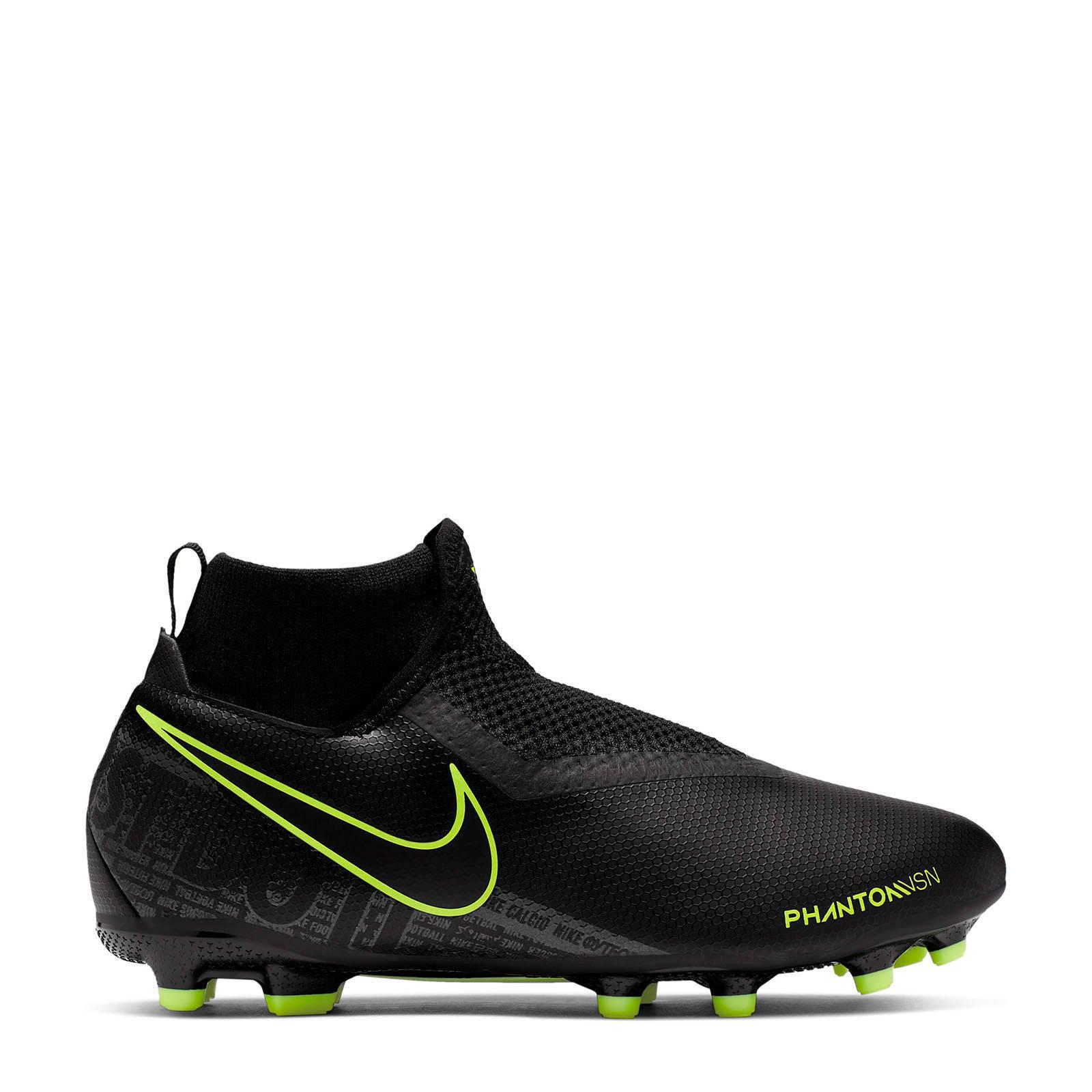 Nike Phantom VSN Academy DF FGMG Jr. voetbalschoenen zwart