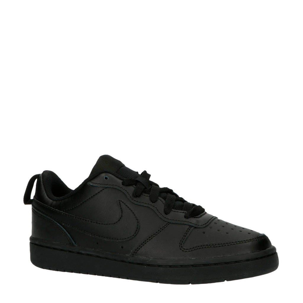 Nike Court Borough Low 2 sneakers zwart, Zwart