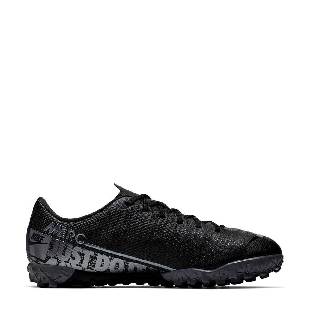 Nike Mercurial Vapor 12 Academy TF Jr. voetbalschoenen zwart/zilver, Zwart/zilver