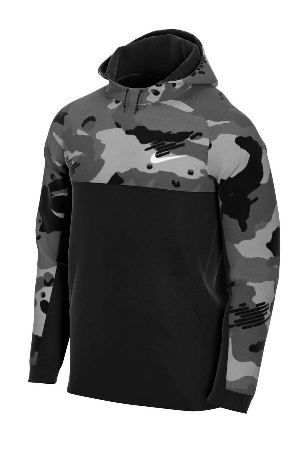 Nike   sportsweater camouflage print zwart, Zwart