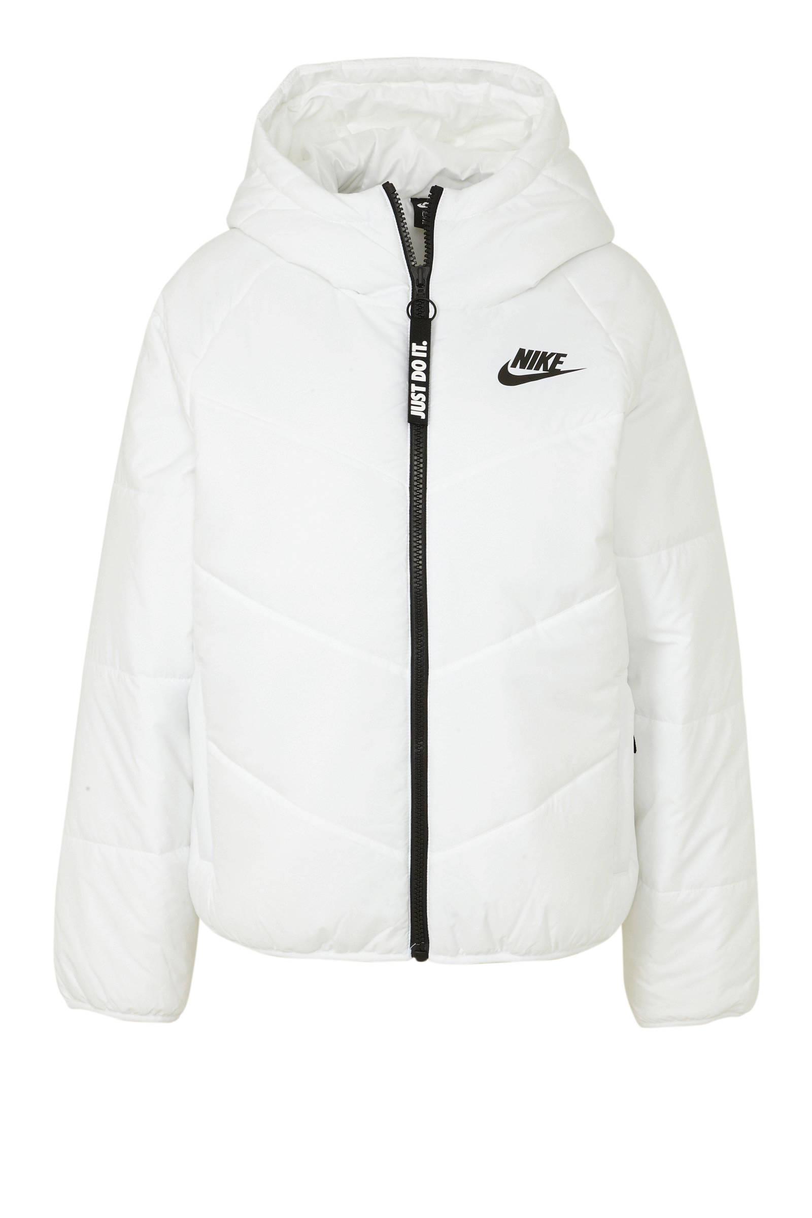Nike winterjas wit   wehkamp