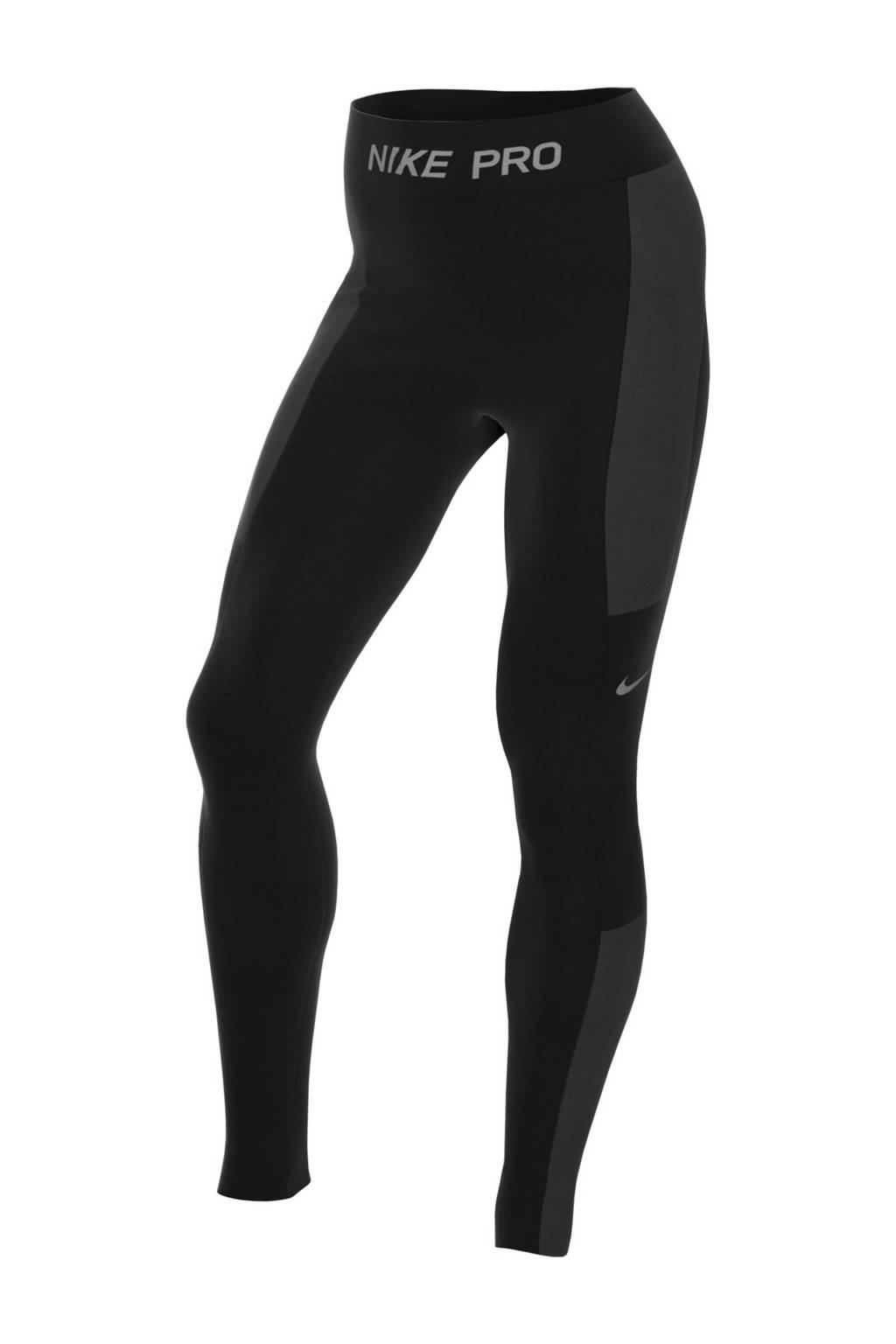 Nike winter sportbroek zwart, Zwart/grijs