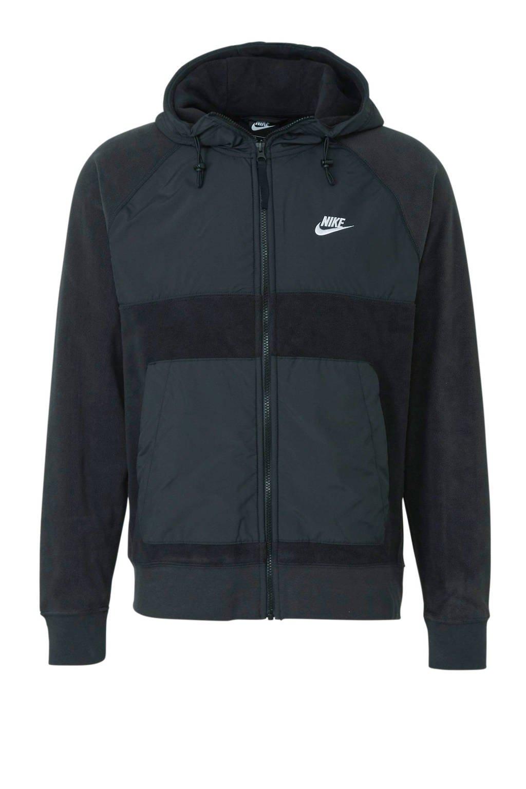 Nike   fleece vest zwart, Zwart