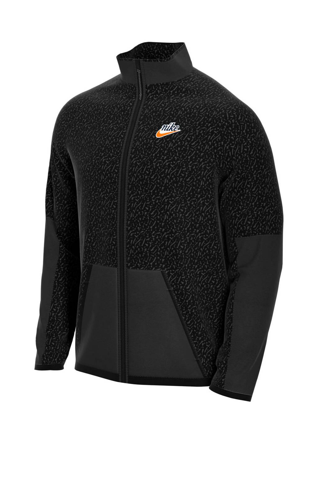 Nike   teddy vest zwart, Zwart