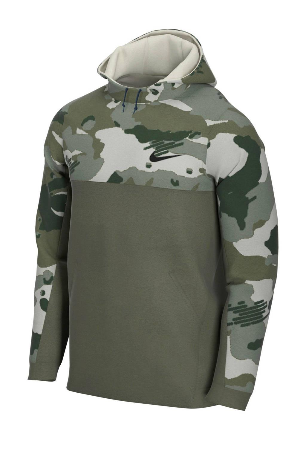 Nike   sportsweater camouflage print groen, Groen