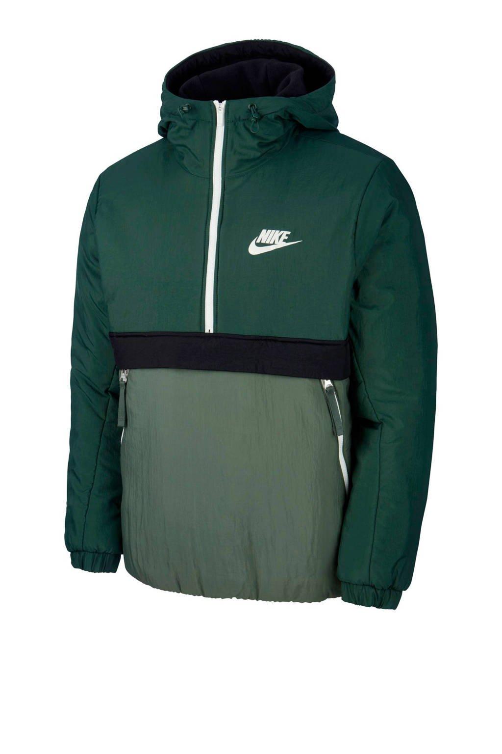 Nike thermo anorak donkerblauw/groen, Groen/zwart