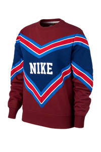 Nike sweater bordeauxrood/blauw, Bordeauxrood
