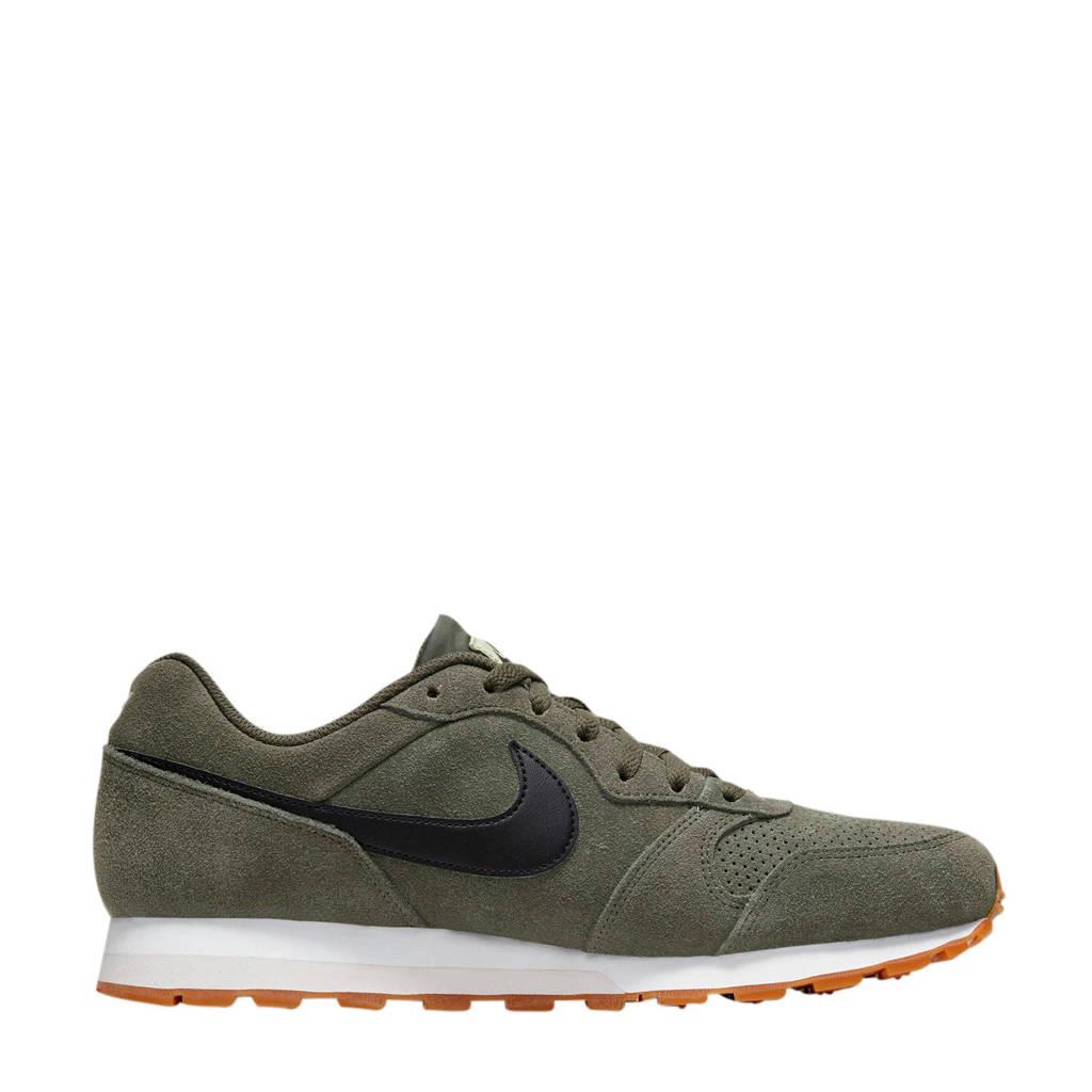 Nike MD Runner 2  suede sneakers olijfgroen/zwart, Olijfgroen/zwart