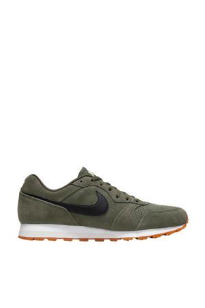 MD Runner 2  suede sneakers olijfgroen/zwart
