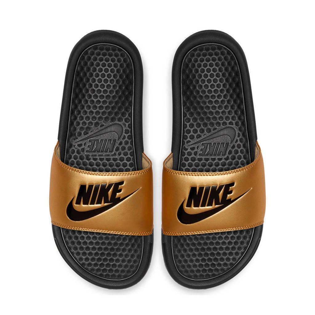Nike Benassi JDI  slippers goud/zwart, Goud/zwart
