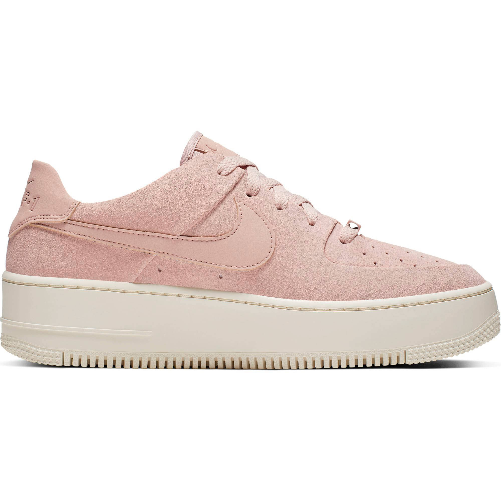 Air Force 1 Sage Low plateau sneakers roze