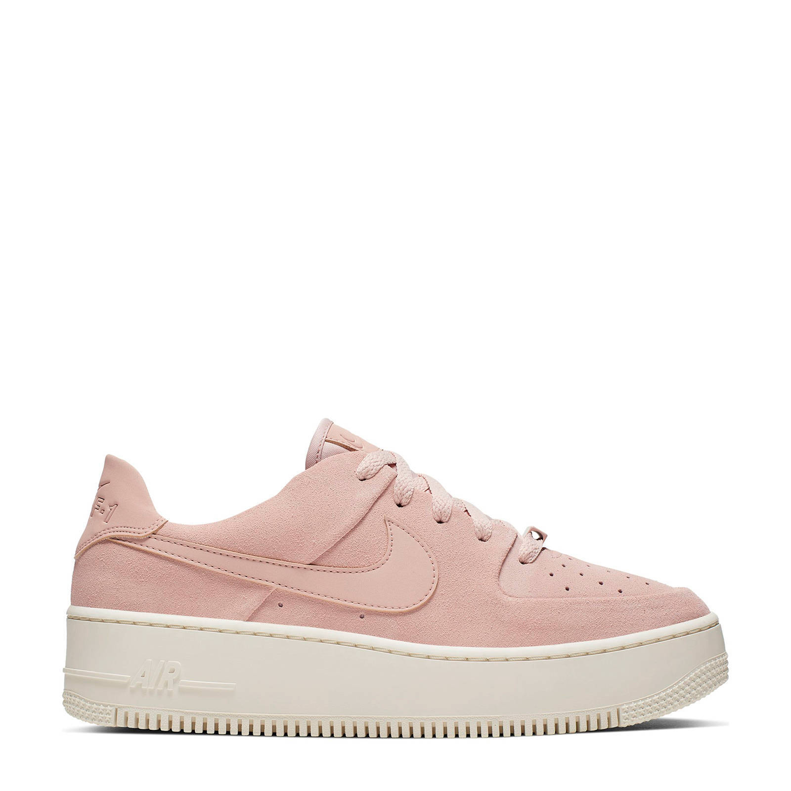 Nike Air Force 1 Sage Low plateau sneakers roze | wehkamp