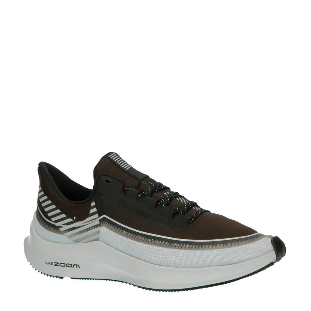 Nike Zoom Winflow 6 shield hardloopschoenen grijs/zwart, Zwart/zilver/grijs