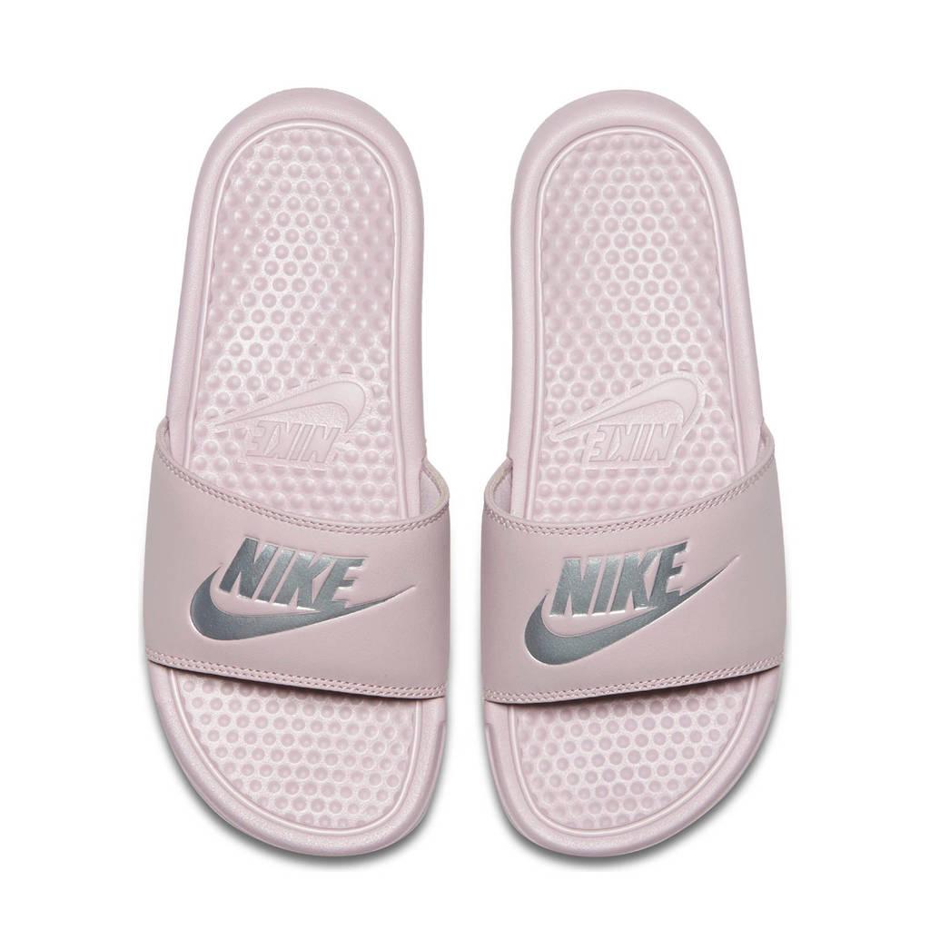 Nike Benassi JDI  slippers lichtroze/zilver, Lichtroze/zilver