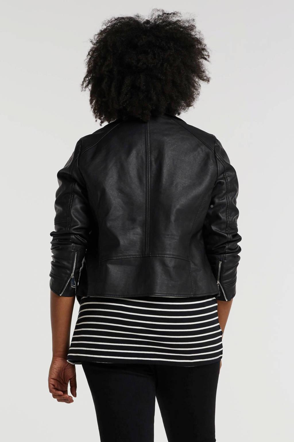 Simply Be Capsule bikerjack zwart, Zwart