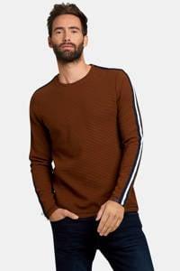 Shoeby Refill gestreepte sweater goud/zwart, Goud/zwart