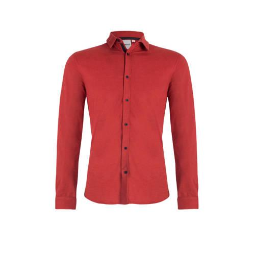 Refill by Shoeby gem??leerd slim fit overhemd rood