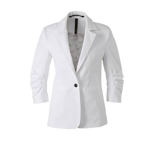 10DAYS blazer met plooien wit