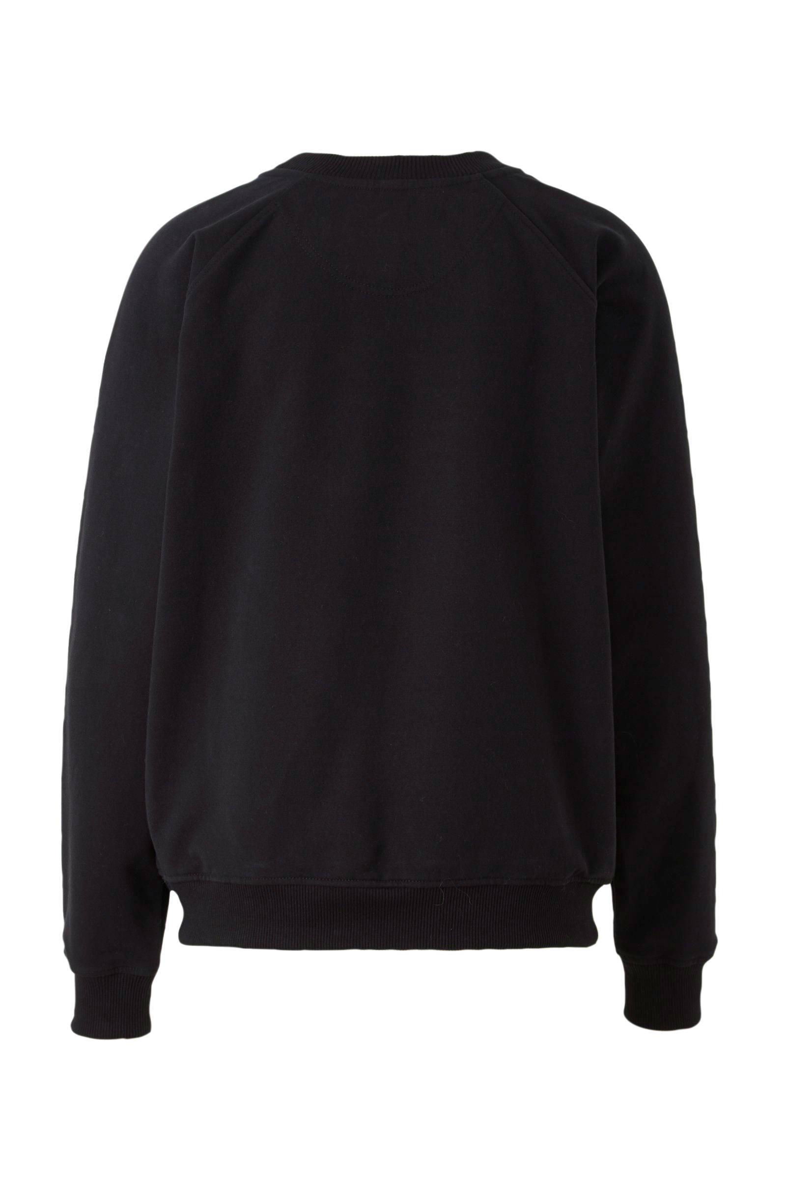 10DAYS sweater met printopdruk zwart