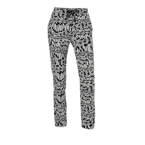 10DAYS slim fit joggingbroek met all over print zw