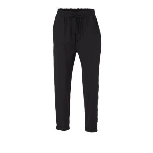 10DAYS high waist tapered fit broek met zijstreep