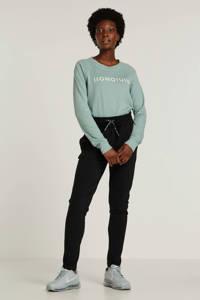 10DAYS high waist slim fit broek zwart, Zwart